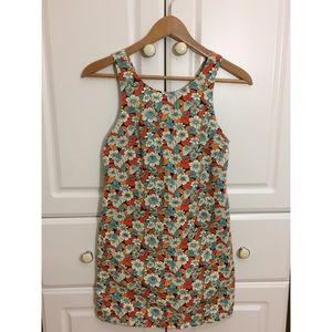 Zara colorful floral pattern dress